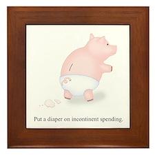 Diaper Incontinent Spending Framed Tile