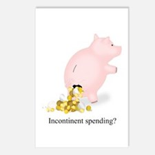 Incontinent Spending Piggy Bank Postcards (Package