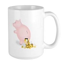 Incontinent Coin Leaking Piggy Bank Mug