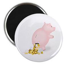 Incontinent Piggy Bank Magnet