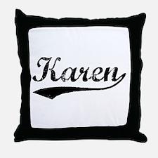 Vintage Karen (Black) Throw Pillow