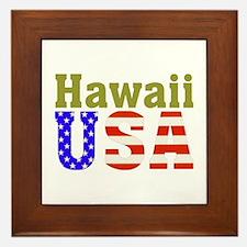 Hawaii USA Framed Tile