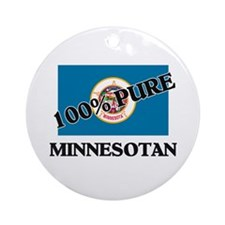 100 Percent Minnesotan Ornament (Round)