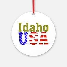 Idaho USA Ornament (Round)