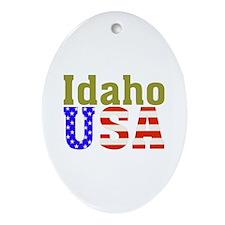 Idaho USA Oval Ornament