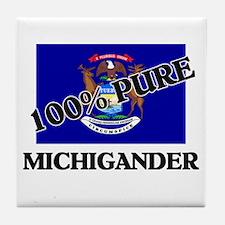 100 Percent Michigander Tile Coaster
