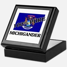 100 Percent Michigander Keepsake Box