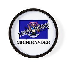 100 Percent Michigander Wall Clock
