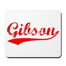 Vintage Gibson (Red) Mousepad