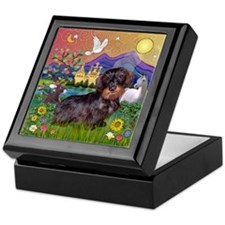 Fantasy / Wire Haired Dachshund Keepsake Box