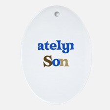 Katelyn's Son Oval Ornament