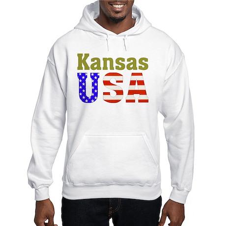 Kansas USA Hooded Sweatshirt