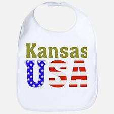 Kansas USA Bib
