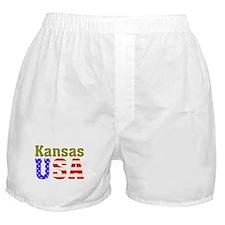 Kansas USA Boxer Shorts