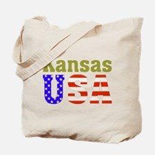 Kansas USA Tote Bag