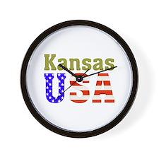 Kansas USA Wall Clock