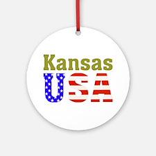 Kansas USA Ornament (Round)