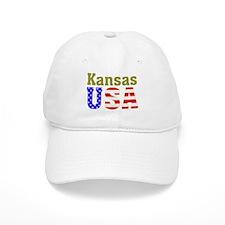 Kansas USA Baseball Cap