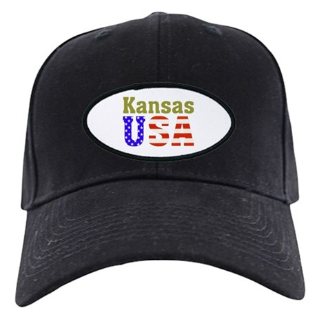 Kansas USA Black Cap