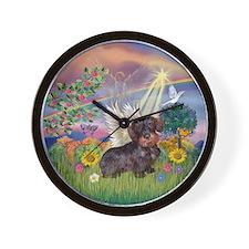 Cloud Angel / Dachshund (WireH) Wall Clock
