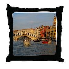 Venice Italy, Rialto Bridge photo- Throw Pillow