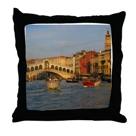 Venice Italy, Rialto Bridge photo- Throw Pillow