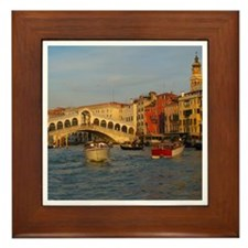 Venice Italy, Rialto Bridge photo- Framed Tile