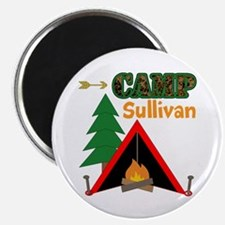 Tent Campfire Camping Name Magnets