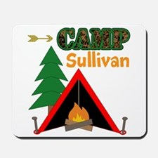 Tent Campfire Camping Name Mousepad