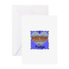 I LOVE FUDGE Greeting Card