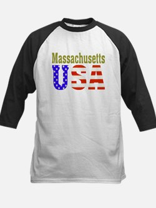 Massachusetts USA Kids Baseball Jersey