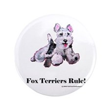 "Fox Terrier Agility Dog 3.5"" Button (100 pack)"
