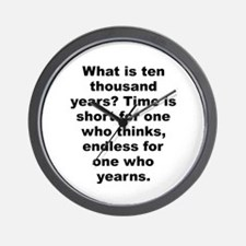Funny Quotable quotes Wall Clock