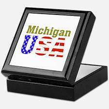 Michigan USA Keepsake Box