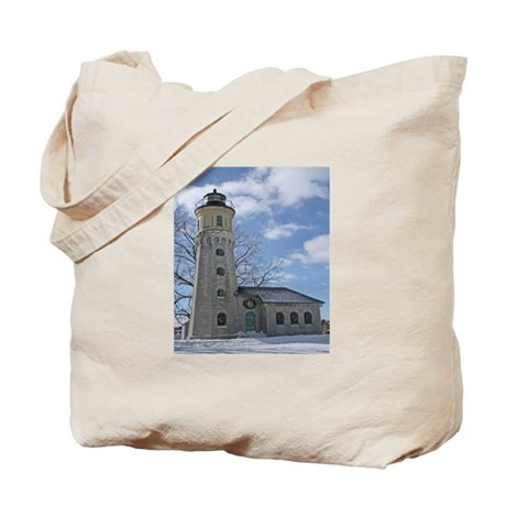 Old Fort Niagara Lighthouse In Winter Tote Bag