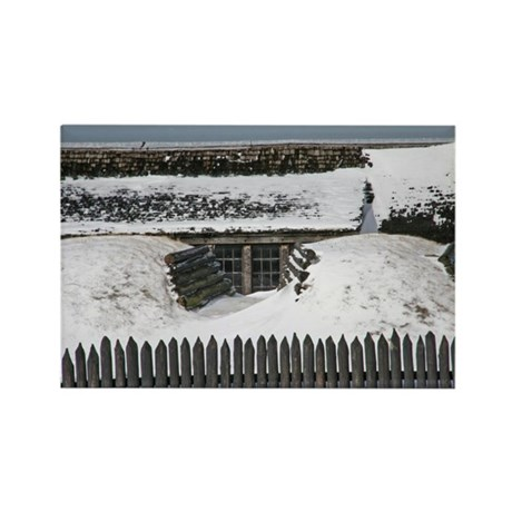 Old Fort Niagara Bunker Rectangle Magnet (100 pack