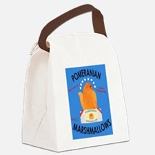 Pomeranian Marshmallows Canvas Lunch Bag