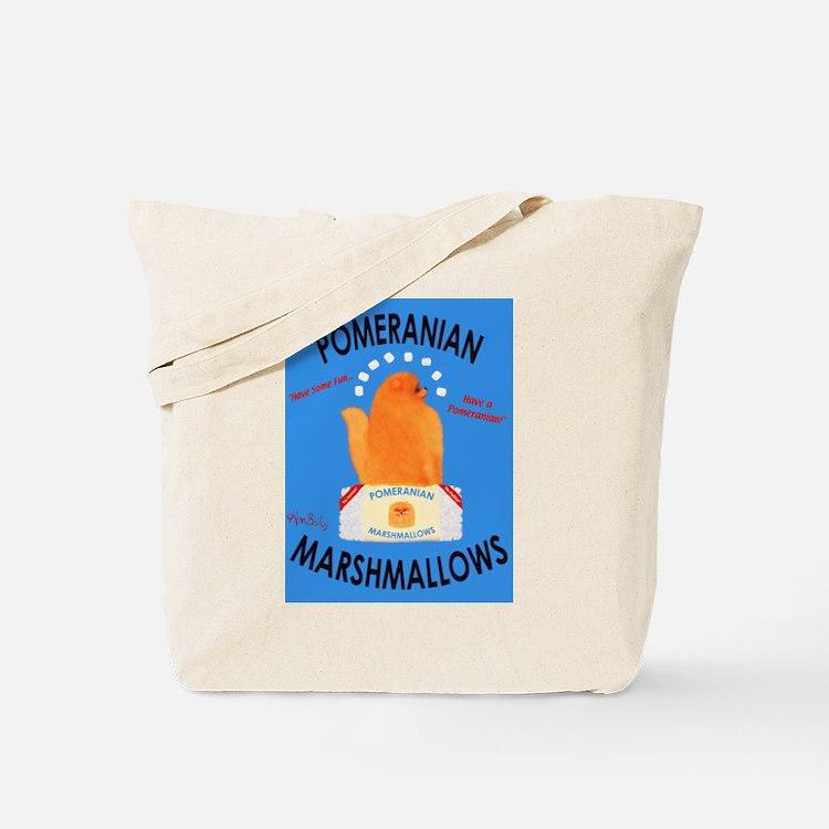 Pomeranian Marshmallows Tote Bag