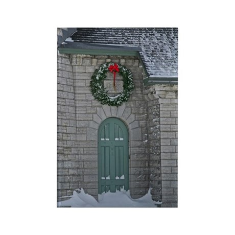 A Lighthouse Christmas Rectangle Magnet (100 pack)