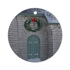 A Lighthouse Christmas Ornament (Round)