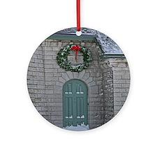 A Lighthouse Christmas Ornament (Round)