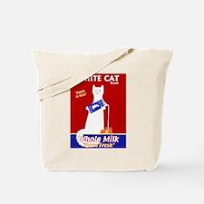 White Cat Milk Tote Bag