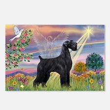 Cloud Angel & Giant Schnauzer Postcards (Package o