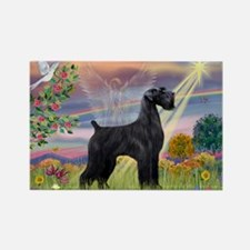 Cloud Angel & Giant Schnauzer Rectangle Magnet