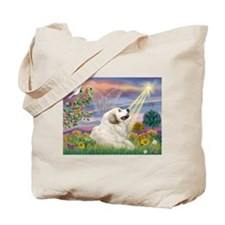 Cloud Star & Great Pyrenees Tote Bag
