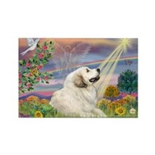 Cloud Star & Great Pyrenees Rectangle Magnet