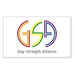 GSA Neon Rectangle Sticker 50 pk)