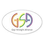 GSA Neon Oval Sticker (10 pk)