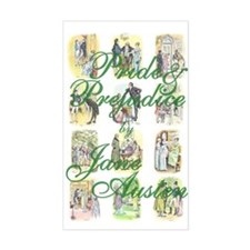 Pride and Prejudice Rectangle Decal