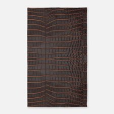 Chestnut Nile Crocodile Skin Area Rug